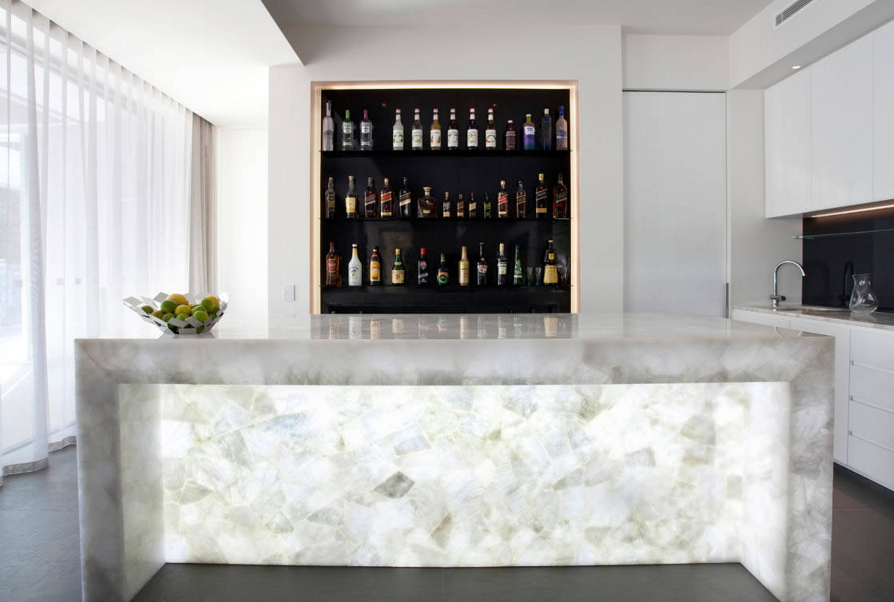 Design Trend: Backlit Caesarstone and Onyx - The Tramm Group - RE ...