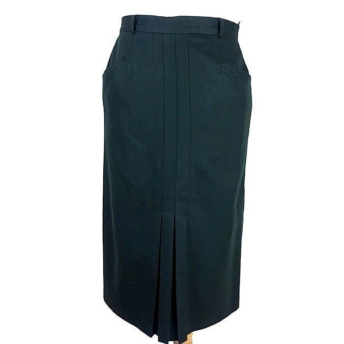 bca3d3a383 Vintage Dark Green Pure Wool Midi Pleat Straight 1940s Winter Skirt Size  14/16 #fashion #clothing #shoes #accessories #womensclothing #skirts (ebay  link)