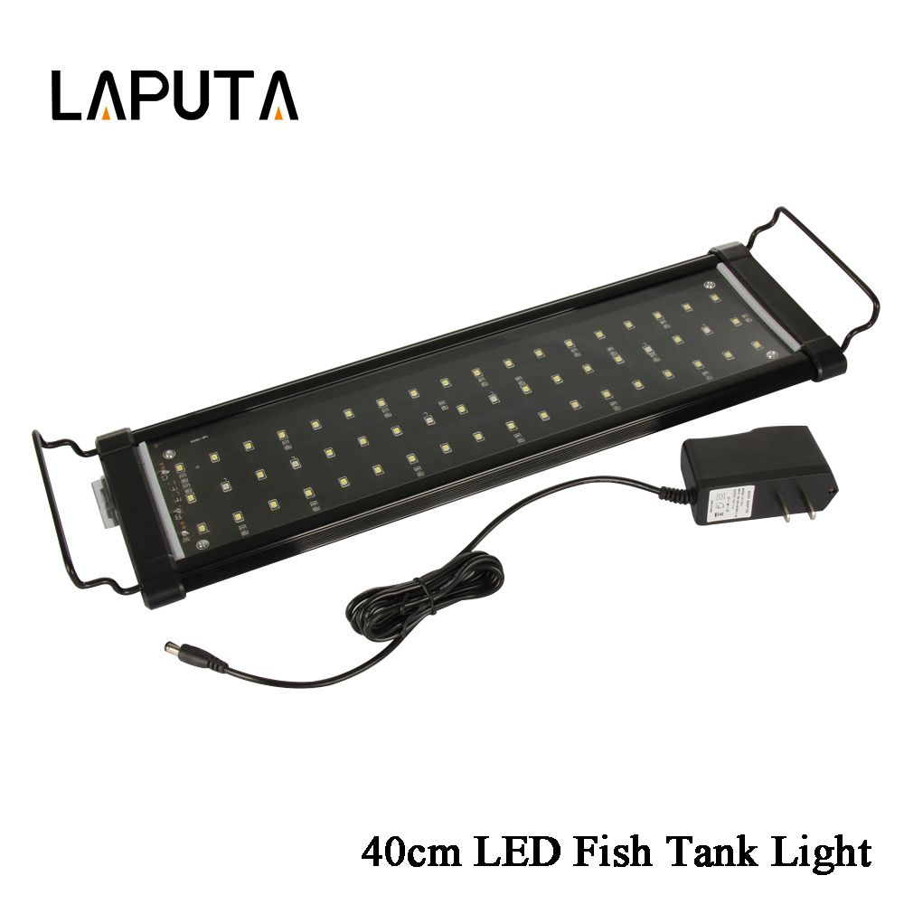 1pcs Newest 2 Mode Led Aquarium Lamp Light For Reef Coral Fish Tank Aquarium Light White Blue 30cm 40cm 60cm 90cm Le Fish Tank Fish Tank Lights Coral Fish Tank