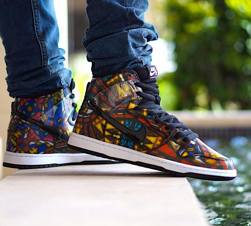half off 553a4 373eb NIKE SB X CONCEPT DUNK HIGH STAINED GLASS 313171 606  140