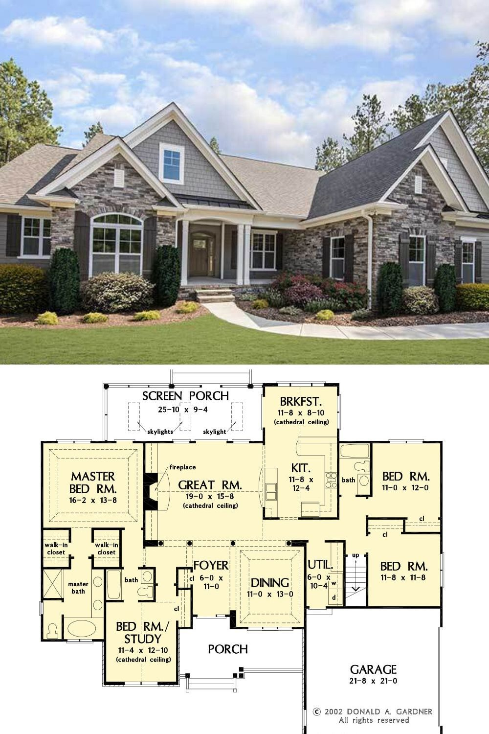 Single Story Traditional 3 Bedroom The Satchwell Home Floor Plan In 2020 New House Plans Beautiful House Plans Craftsman Style House Plans