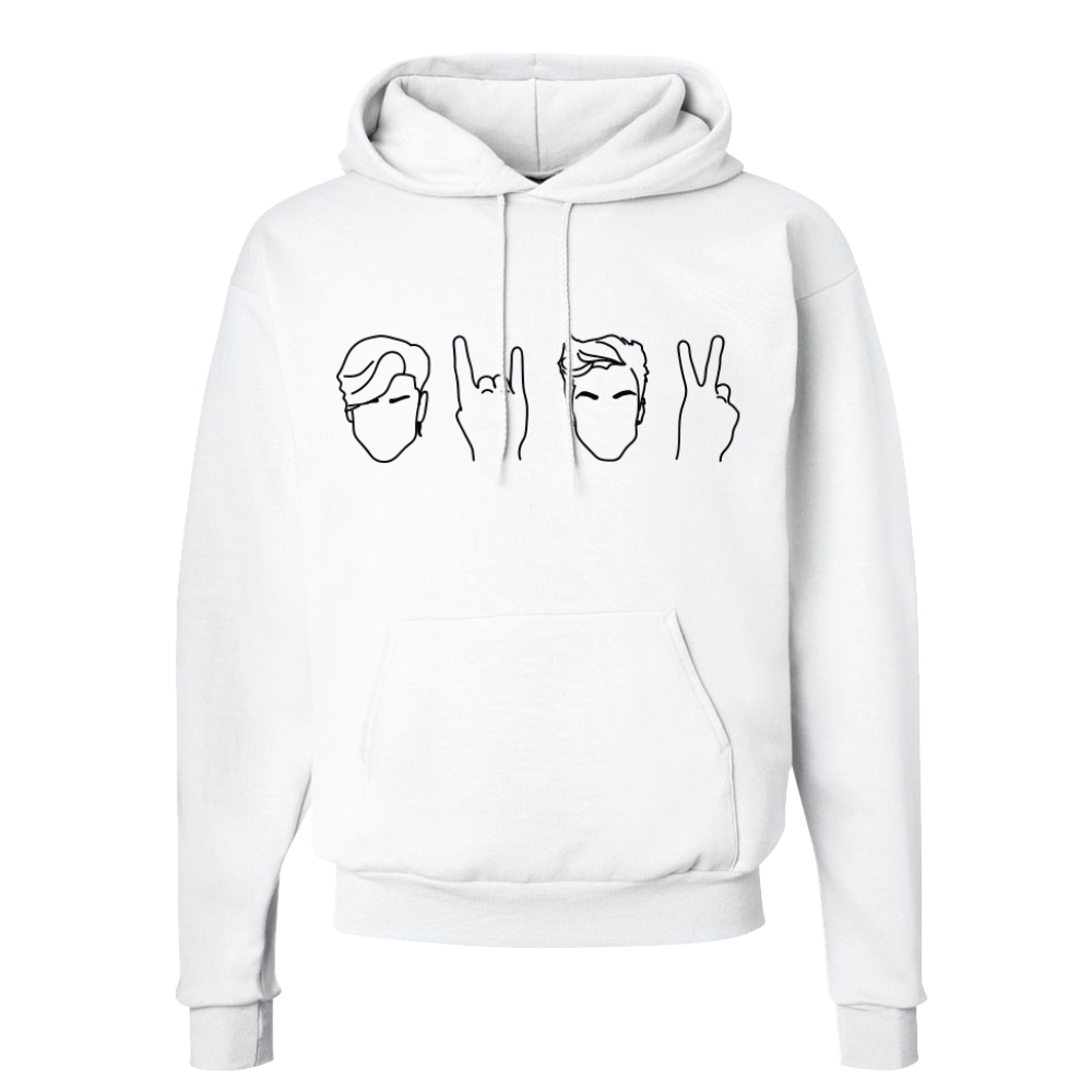 03978e860 Twins Hoodie (White) | Dolan Twins Official Merchandise – Dolan Twins  Official Store