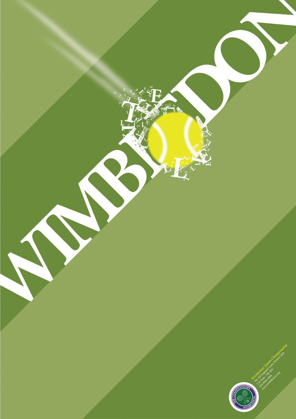 Wimbledon Poster Wimbledon Tennis Posters Sports Graphic Design