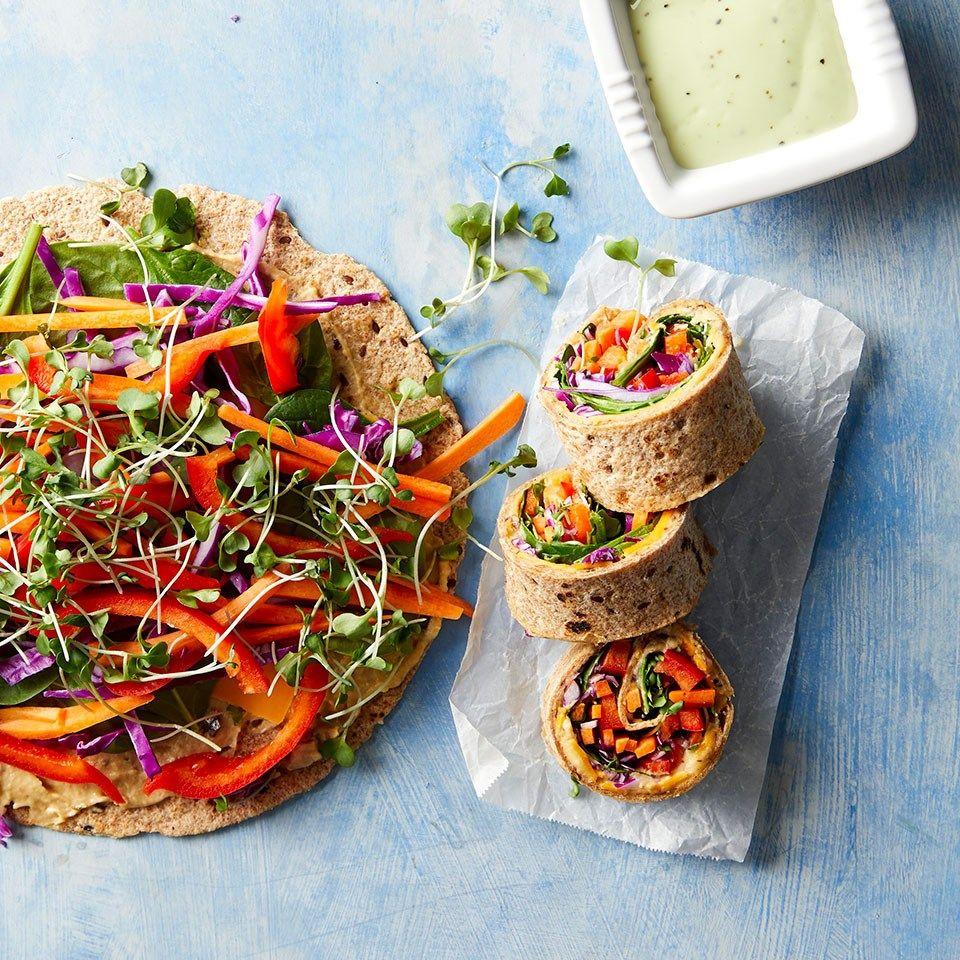 Rainbow Veggie Wraps Recipe Veggie Wraps Cheap Healthy Dinners Healthy Lunch