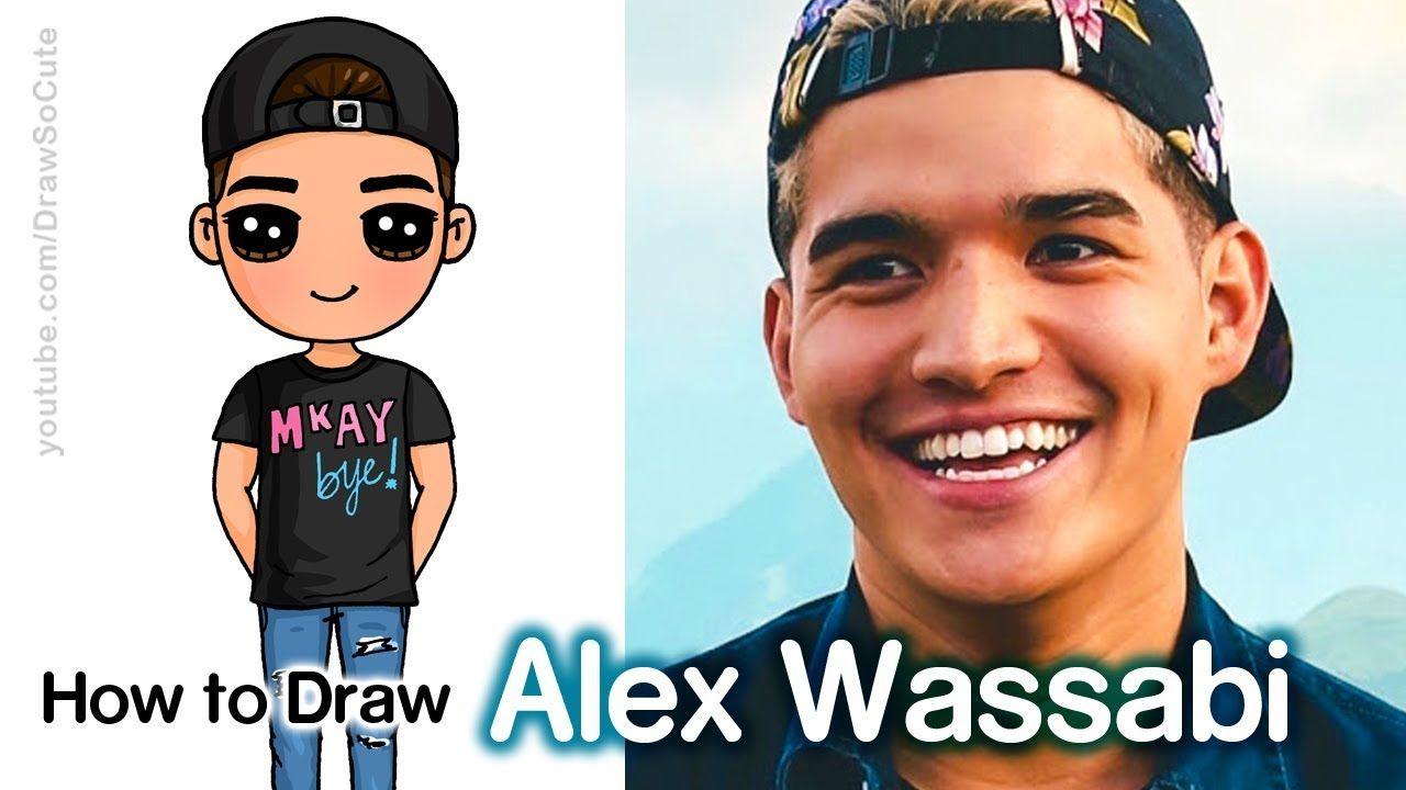 How To Draw Alex Wassabi Easy Chibi Famous Youtuber Youtube