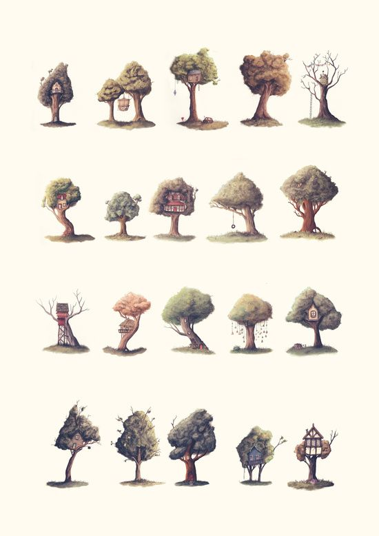 Neighbourhood Art Print :: for the love of treehouses