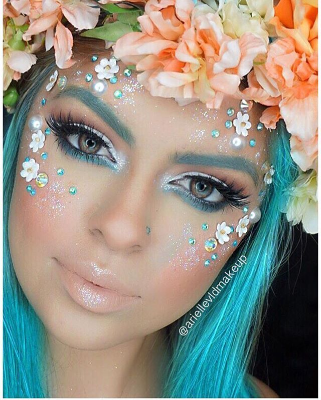 Halloween costume ideas: Flower fairy. Hair and make up style ...