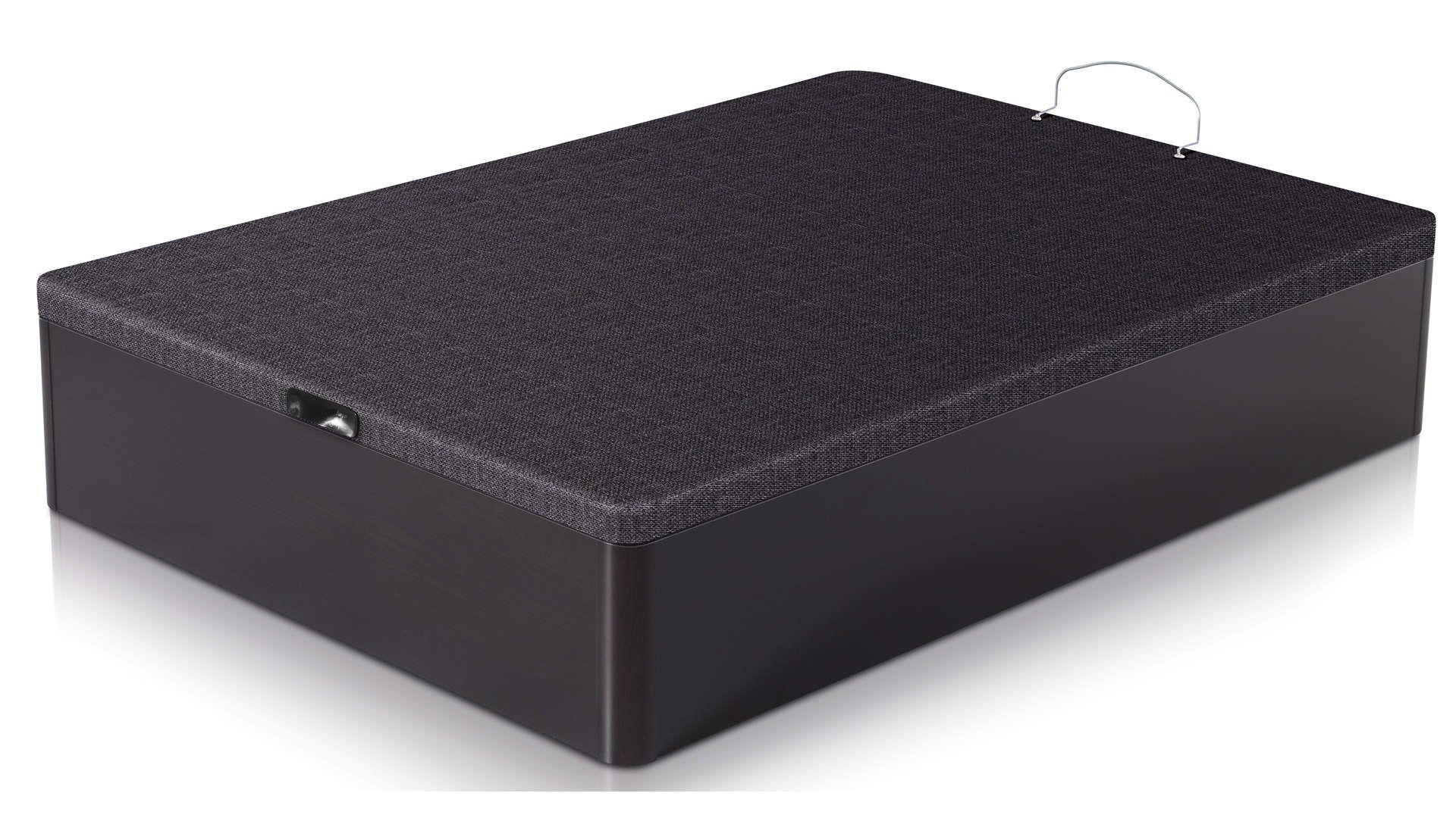 Sommier Avec Coffre 160x200 Cm Nightitude Line Box Noir Coffre Wenge