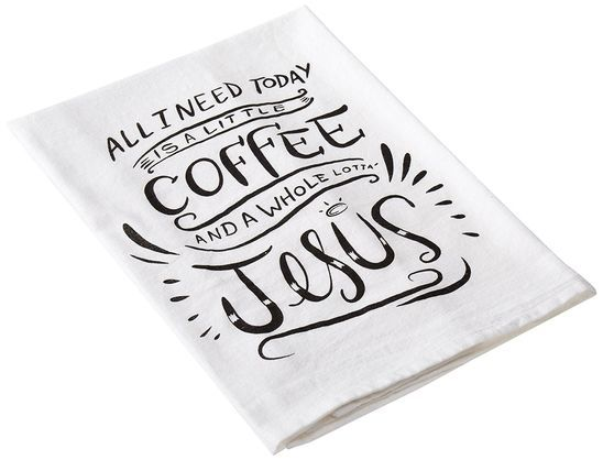 Coffee & Jesus Tea Towel