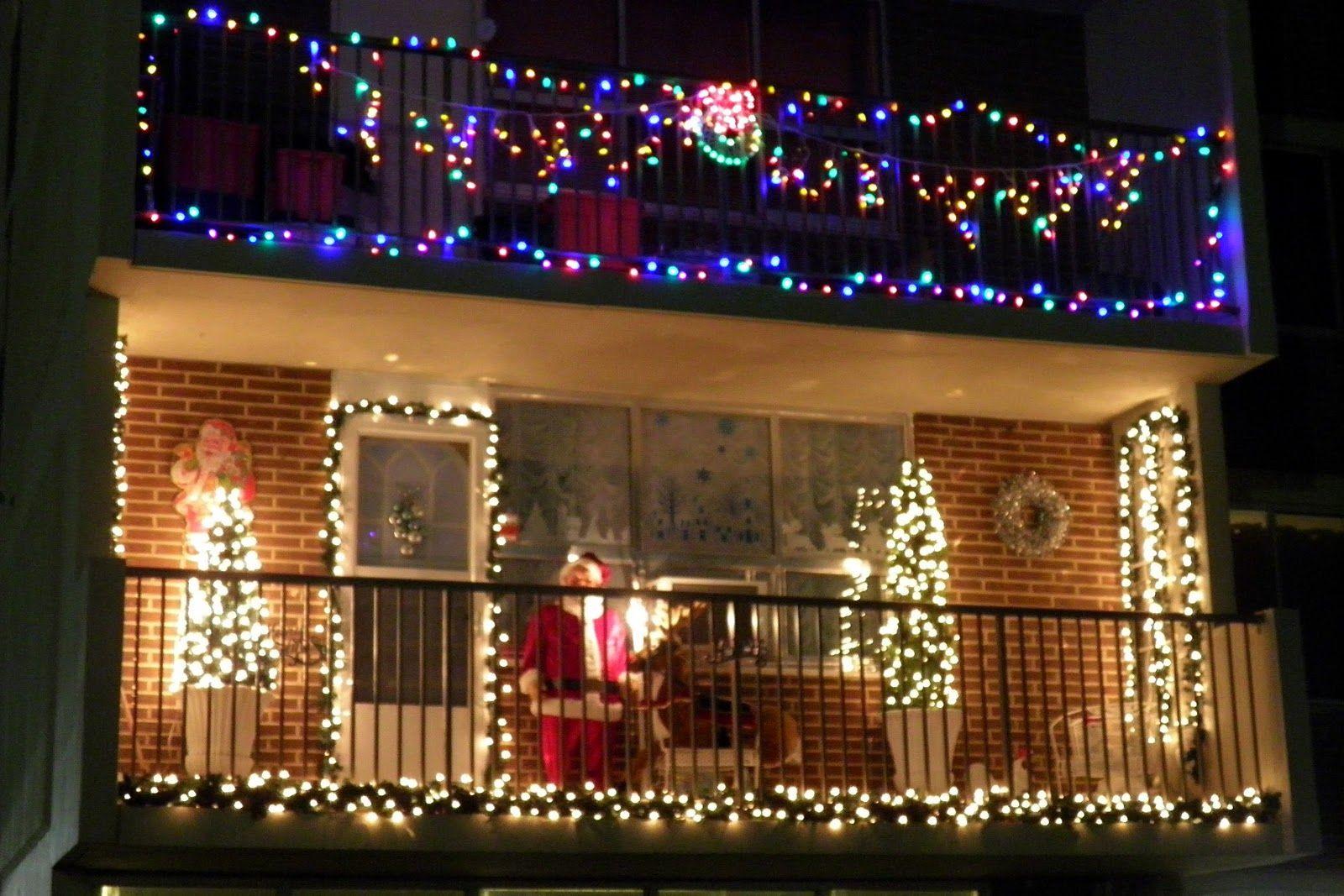 fresh christmas light ideas for balcony on exterior design On christmas balcony decorating ideas