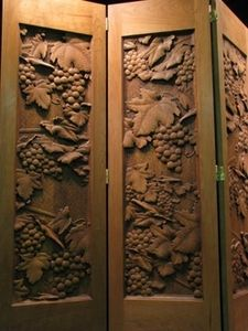 Wood Carved Grapes And Vines Screen Carved Grapes And Vines