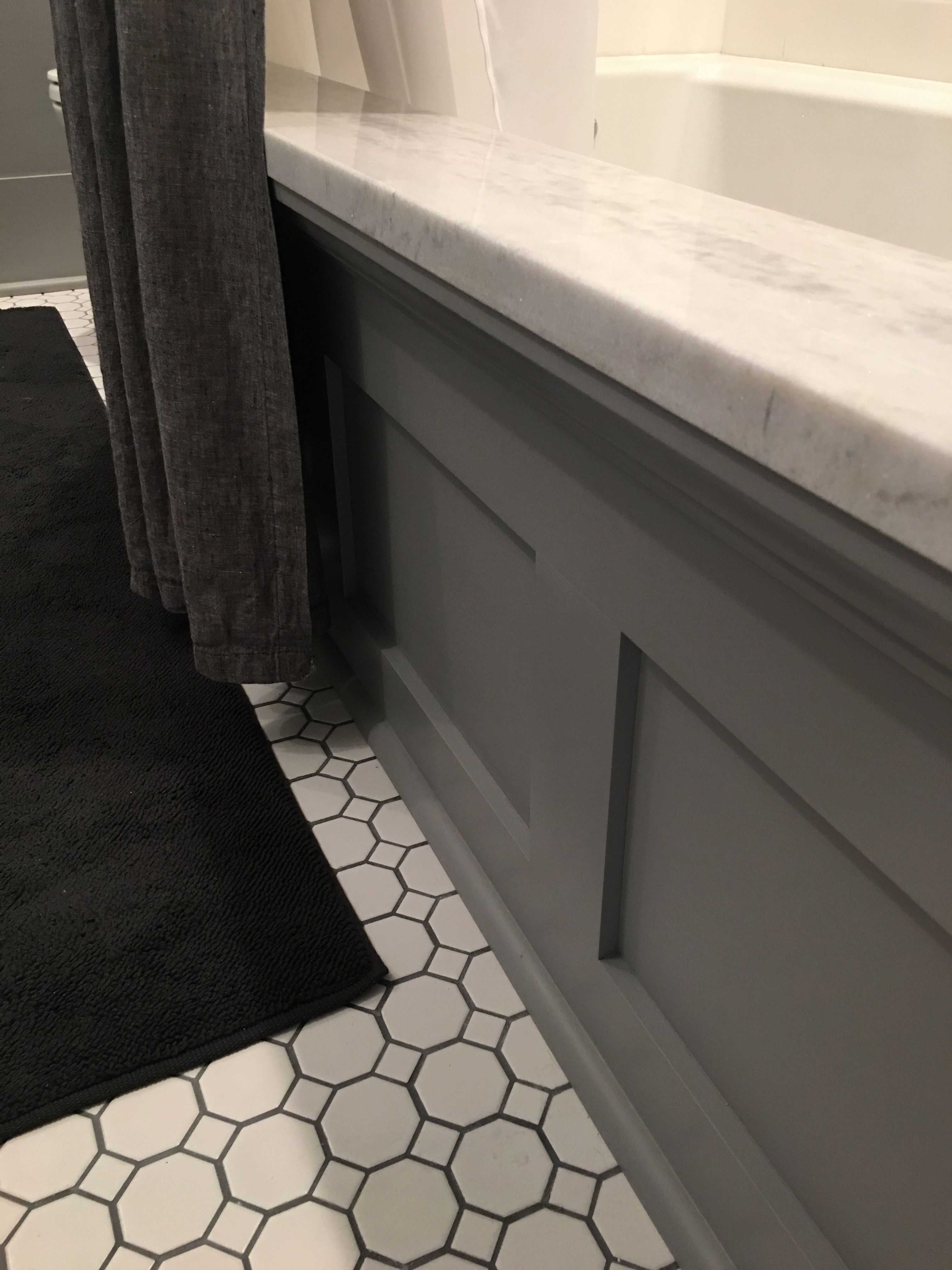 Kids Bathroom Renovation Drop In Tub With Custom Paneling And