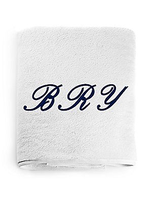 Peter Reed Monogrammed Jumbo Bath Towel