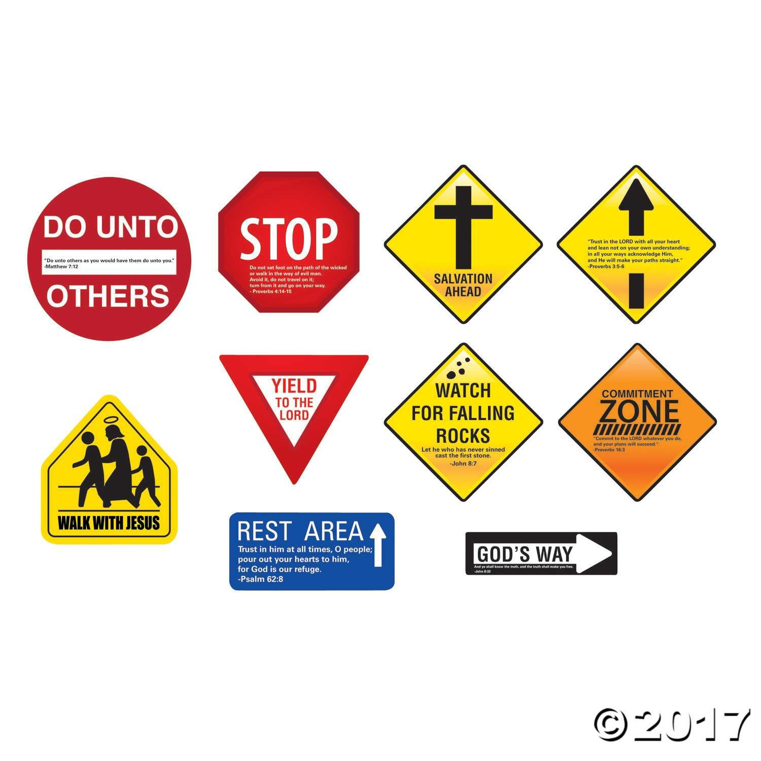 Inspirational Road Sign Wall Decorations Sunday School Classroom