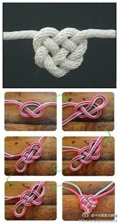 Geschenk Beste Freundin – Rope heart- this would be cool to do in yarn and add it to a croche…