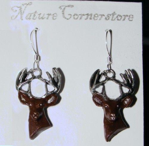 Whitetail Deer Earrings | NatureCornerstore - Jewelry on ArtFire