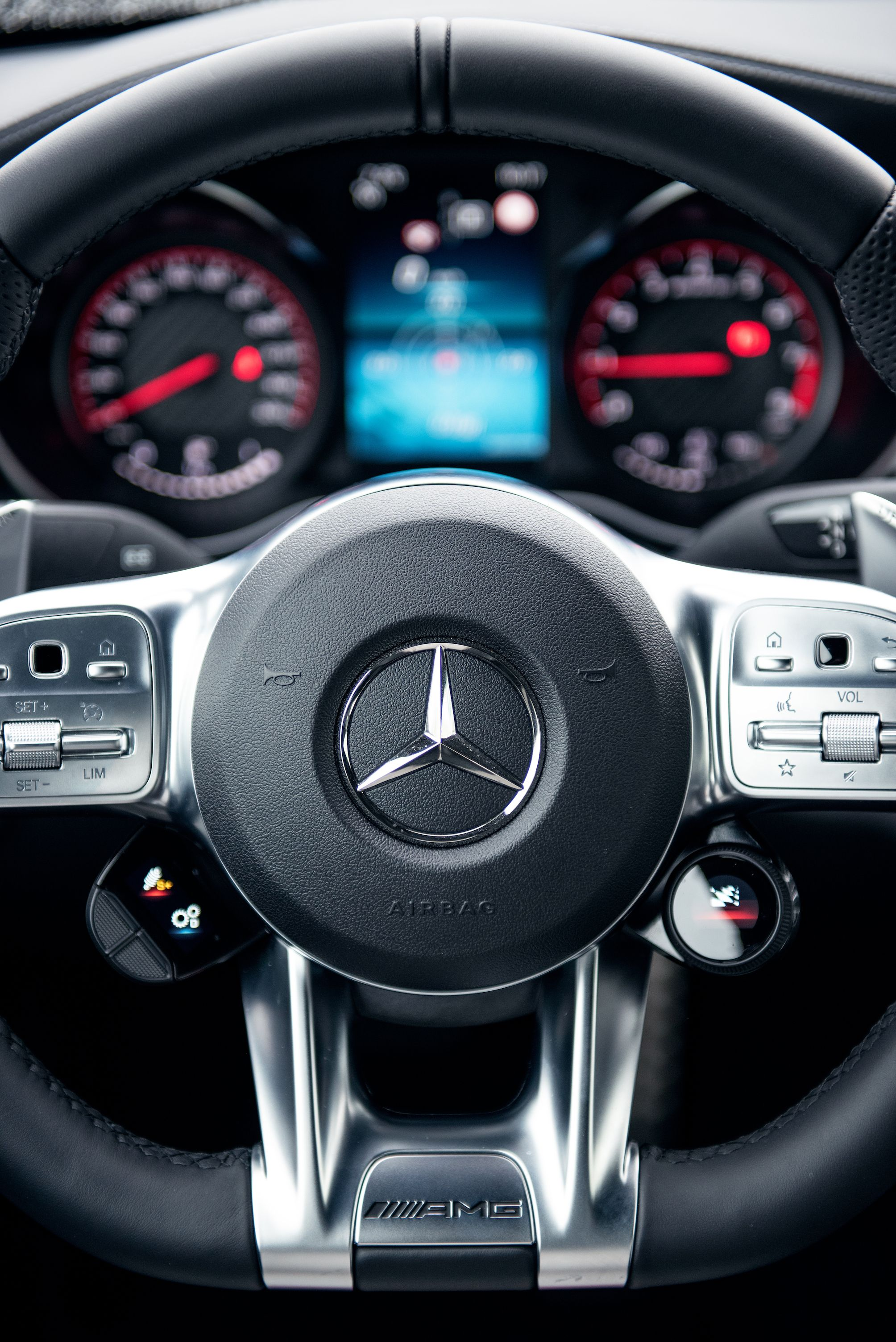 This Is The Steering Wheel Of The Mercedes Amg C 63 S All The Driving Performance You Need At The Tip Of Your Fi Mercedes Truck Mercedes Car Mercedes Benz Amg