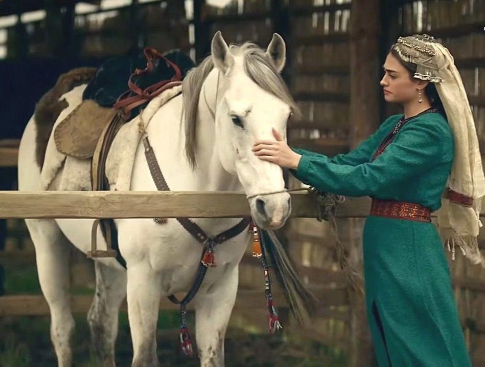 Halime Hatun   Halima Ertugrul   Horses, Beautiful horses