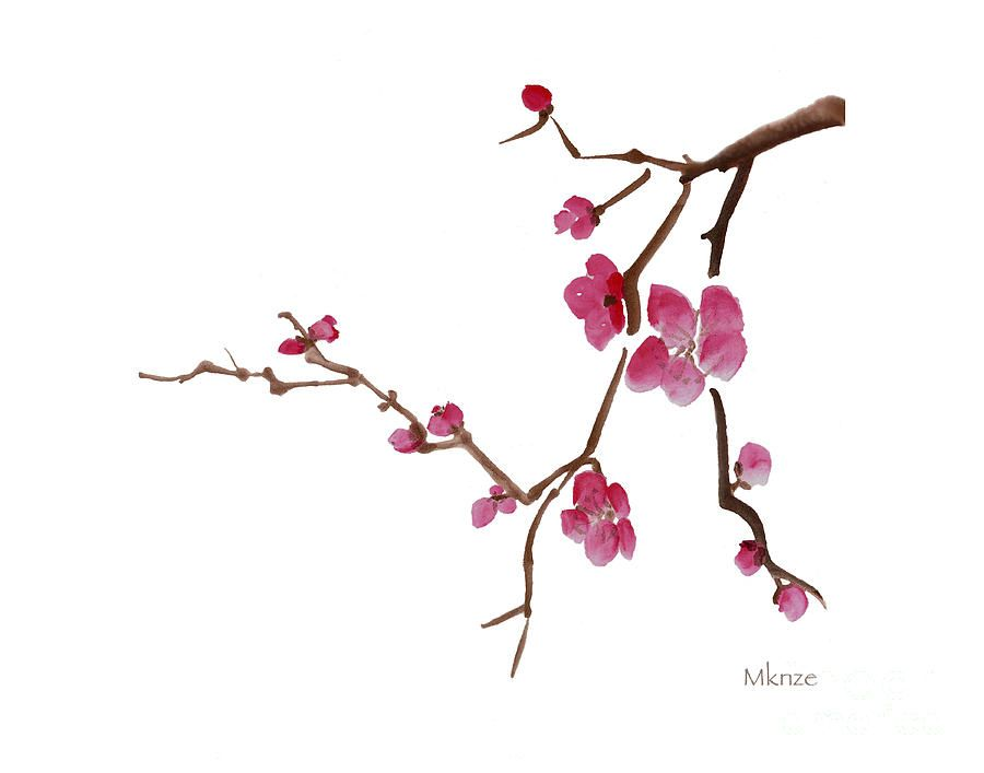 cherry blossoms 1d painting by mckenzie leopold stage makeup in