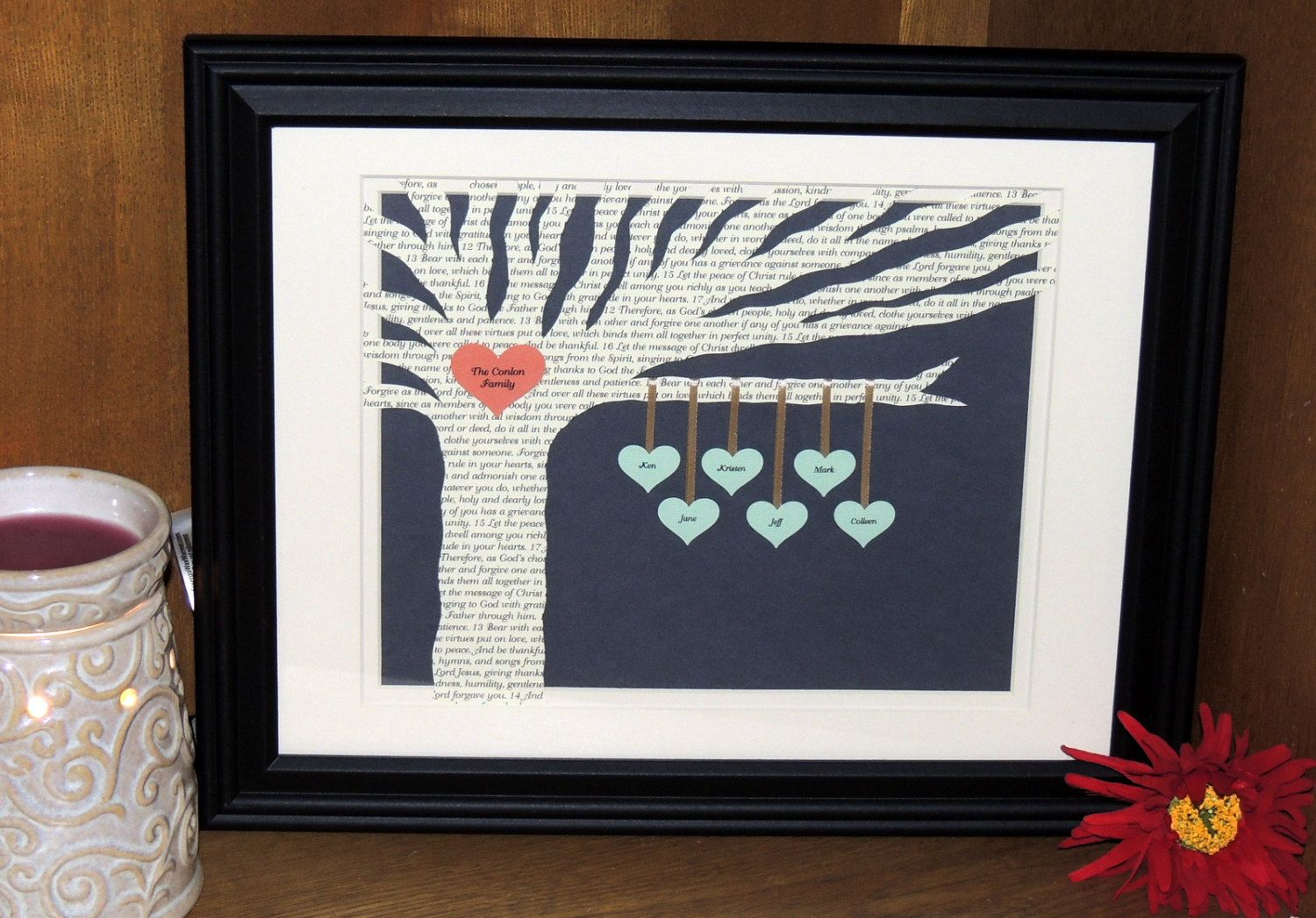 Unique Personalized Family Tree With Poem 3D By