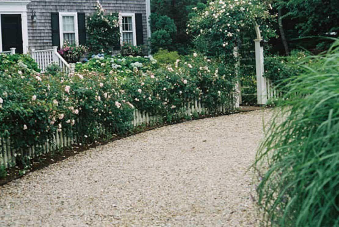 Nice pea gravel driveway