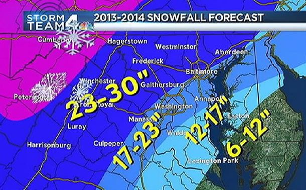 Winter Snow Prediction for 2014 | Snowfall forecast