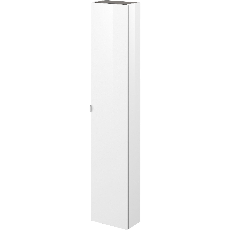 Colonne L 30 X H 154 X P 17 Cm Blanc Neo Line Armoire Murale Porte Battante Et Petit Meuble Rangement