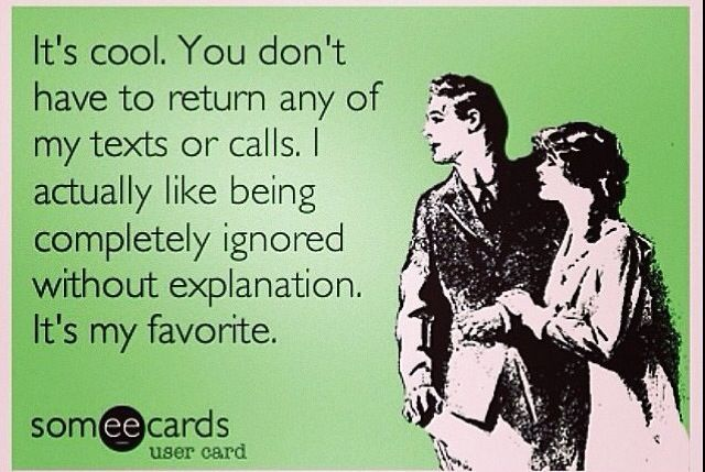 I find this so annoying when people don't text back, but yet they like my feed on social network