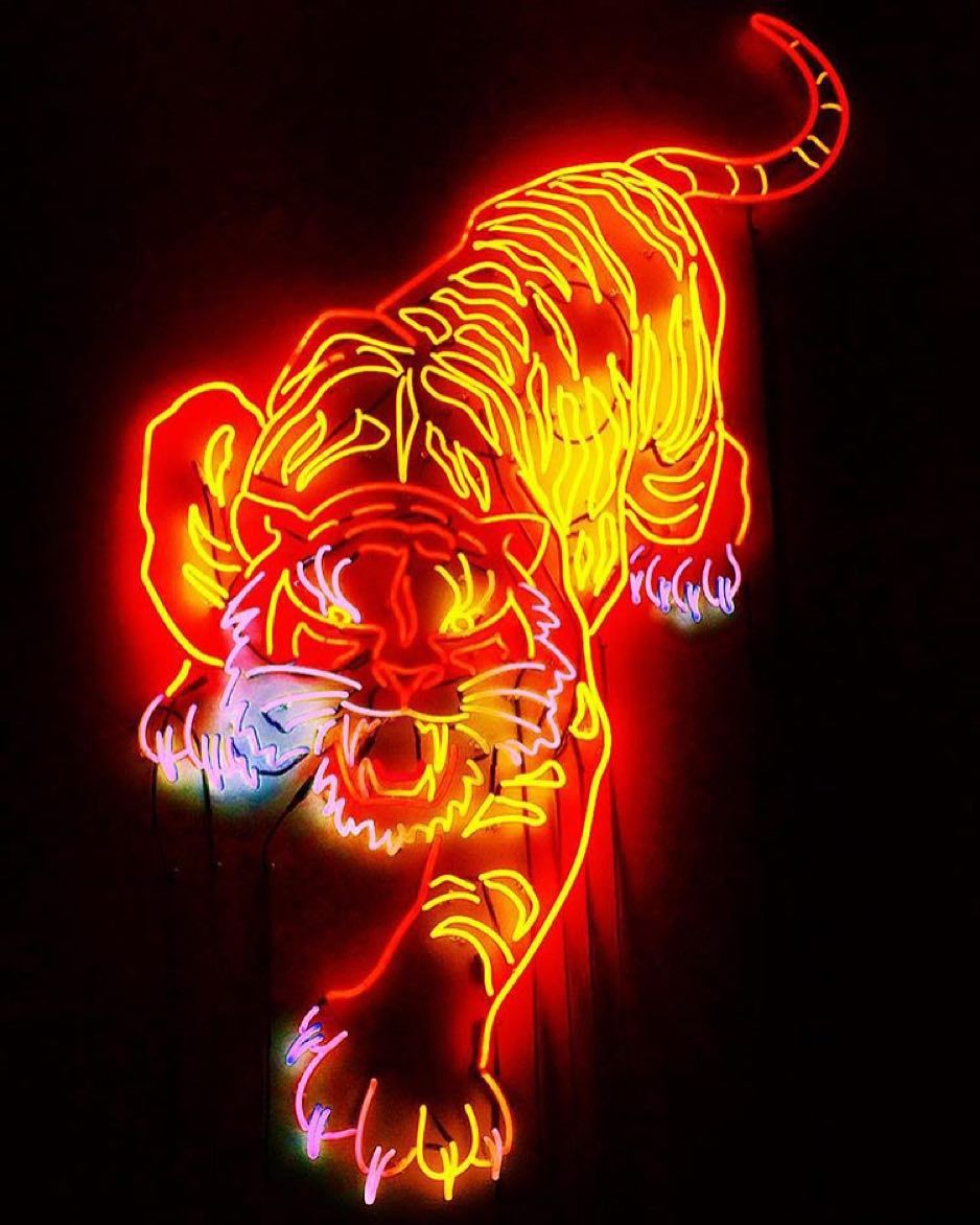 Neon Tiger By Lettherebeneon Blueingreensoho Neon