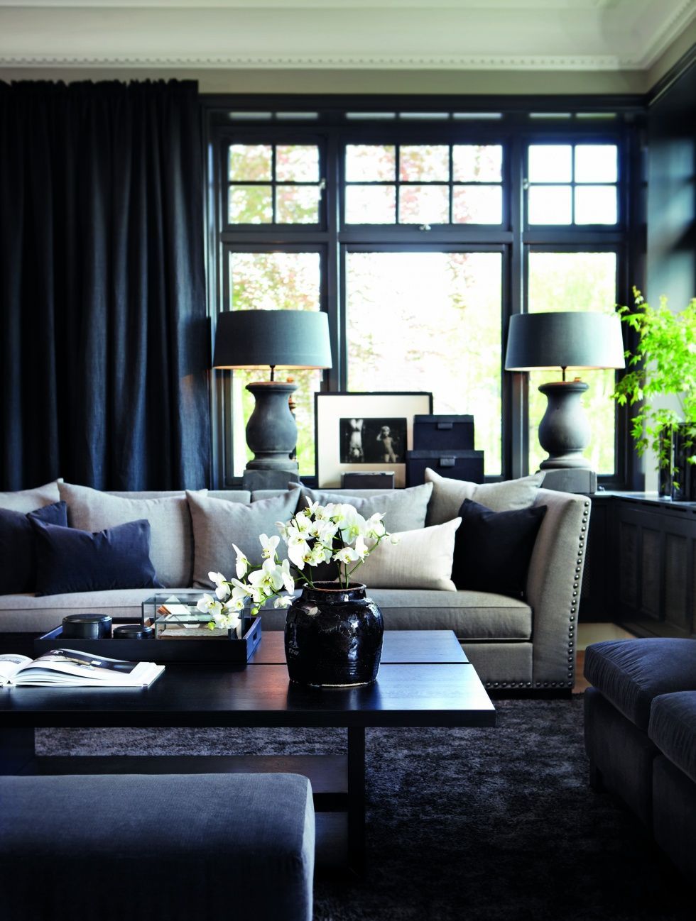 Iu0027m Gonna Need A Sofa Table With Lamps. Living Room Decorating Ideas On A  Budget   Love This Ideas For The Living Room Grey And Silver Theme