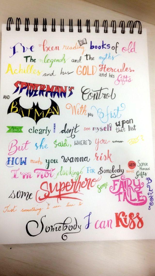 Lyric like this lyrics : ColdplayXchainsmokers something just like this lyrics lettering ...