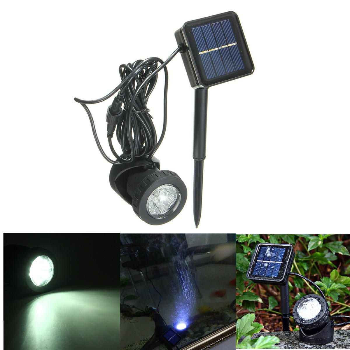 Us 13 39 Solar Power Submersible Underwater Lamp Led Light Garden Fountain Pond Spotlight Lamp Outdoor Ligh Solar Fountain Diy Solar Fountain Solar Led Lights