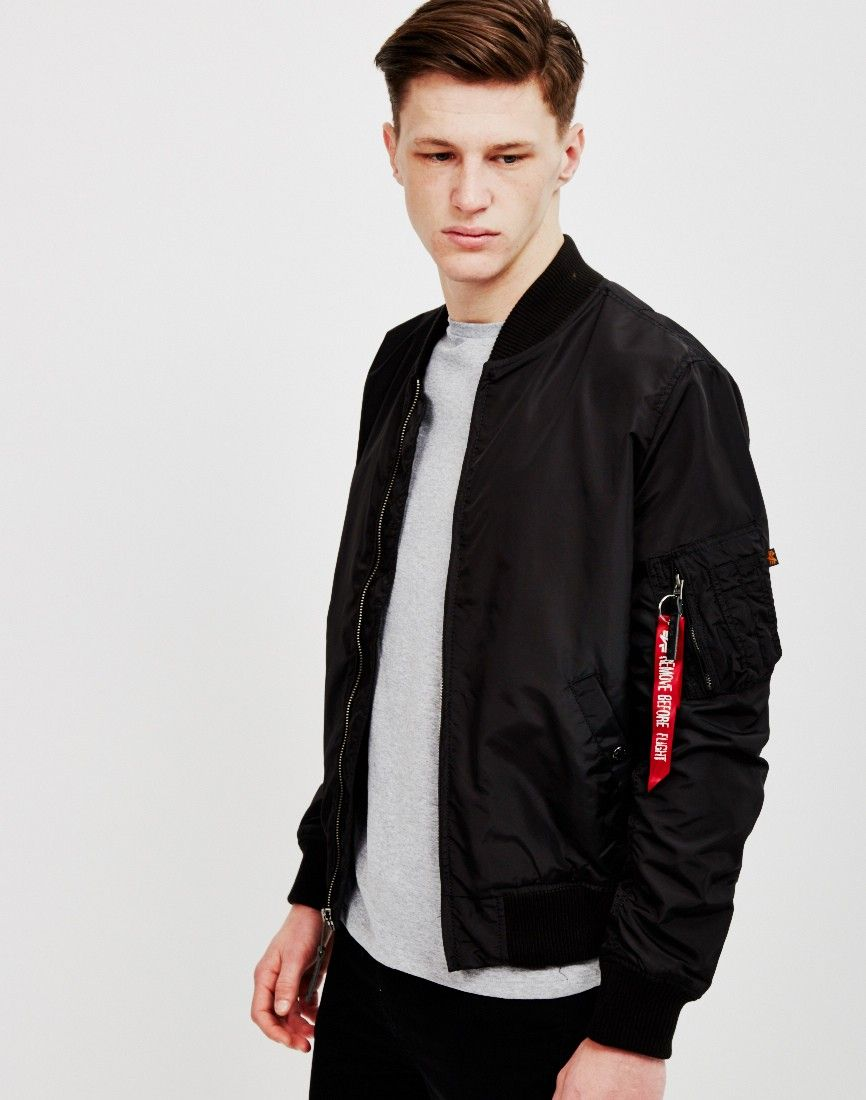 Alpha Industries MA-1 TT Bomber Jacket Pacific Blue | Shop men's ...