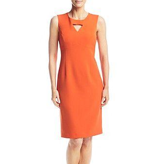 Kasper® Orange Keyhole Dress