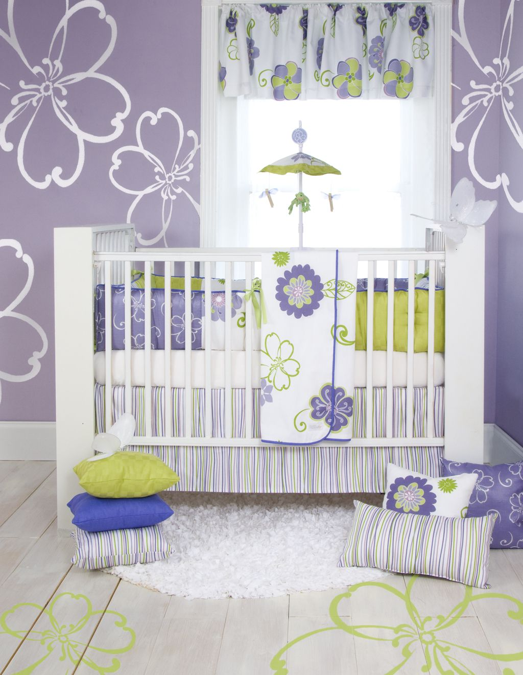 Purple And Green Crib Bedding Baby