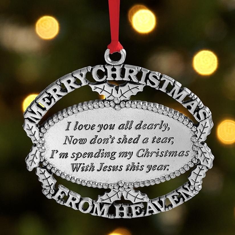 Christmas Ornament In Memory Of A Lost Loved One It S Beginning