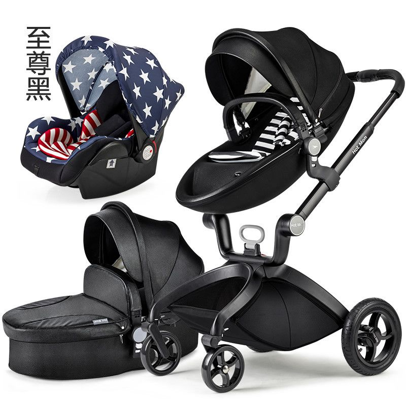 European Baby Strollers Baby Carriage 3 In 1 Luxury Baby Stroller