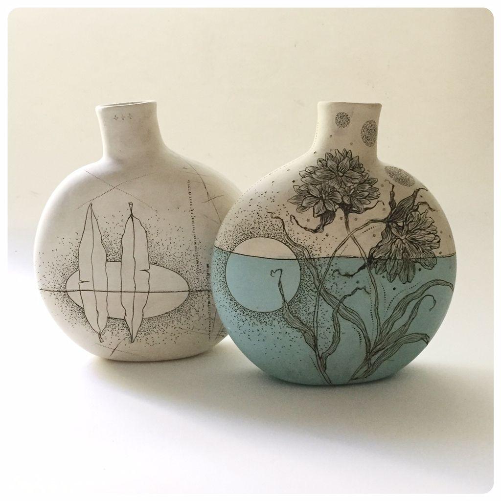 Diana Fayt Pottery Ceramics Diana Fayt Ceramics Etching In Clay Handmade Pottery Drawings Illustrati Ceramic Arts Daily Pottery Sculpture Ceramic Painting