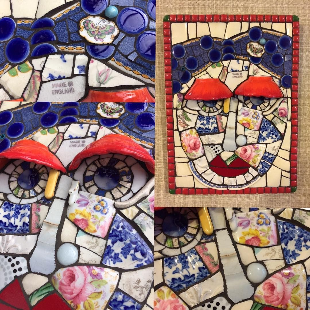 An English Rose Mosaic On Board Mosaic Mosaicartist