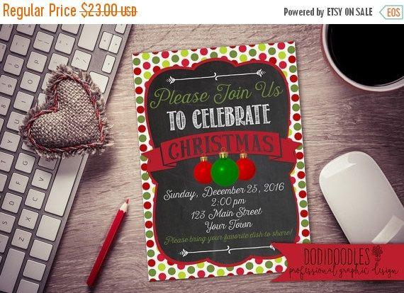 70 CLEARANCE THRU 10/29 Christmas Invitation 5x7 by dodidoodles - christmas clearance decor