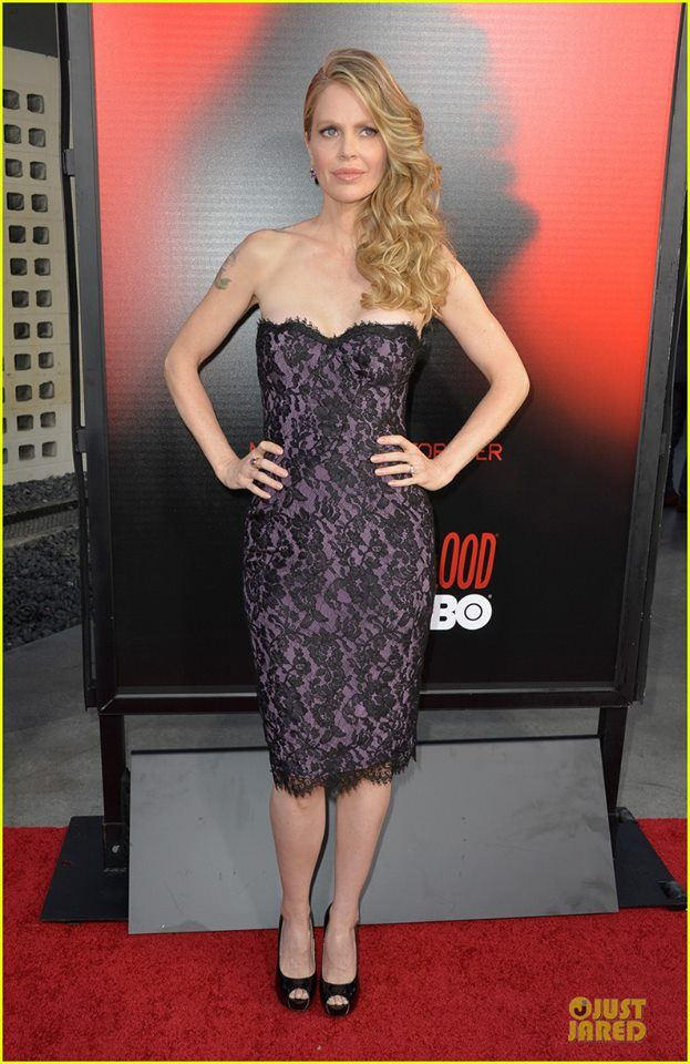 Kristin Bauer looked lovely in this Chagoury Couture dress while attending the premiere of the sixth season of True Blood held at ArcLight Cinemas Cinerama Dome yesterday