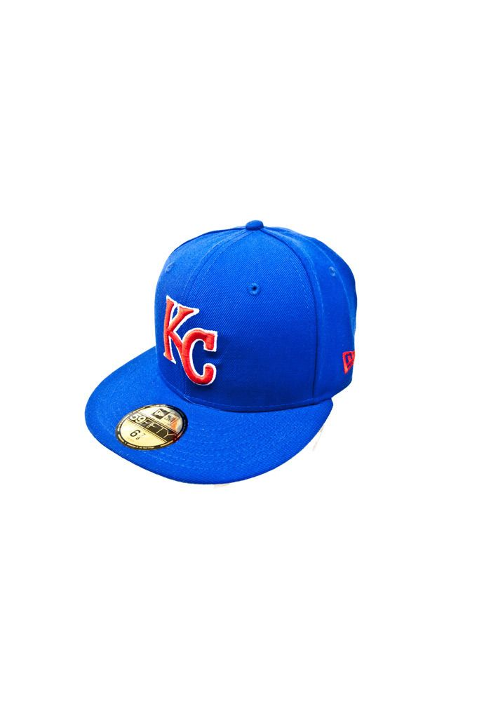 821e59ad Kansas City Royals (KC Royals) Mens New Era Royal Blue and Red 59FIFTY  Fitted