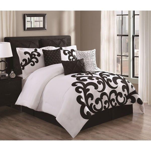 comforter sets black white bedding