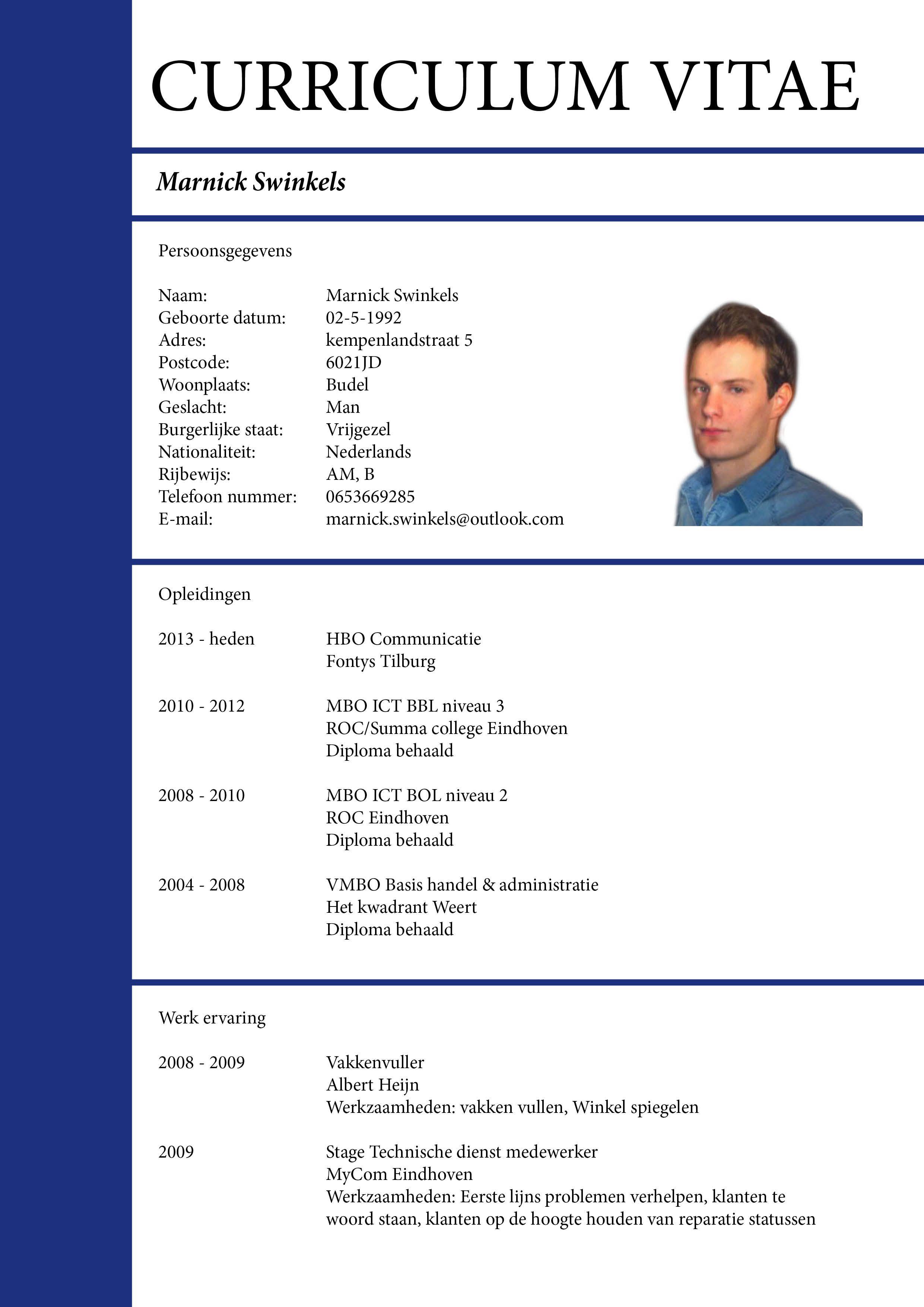 resume layout generator