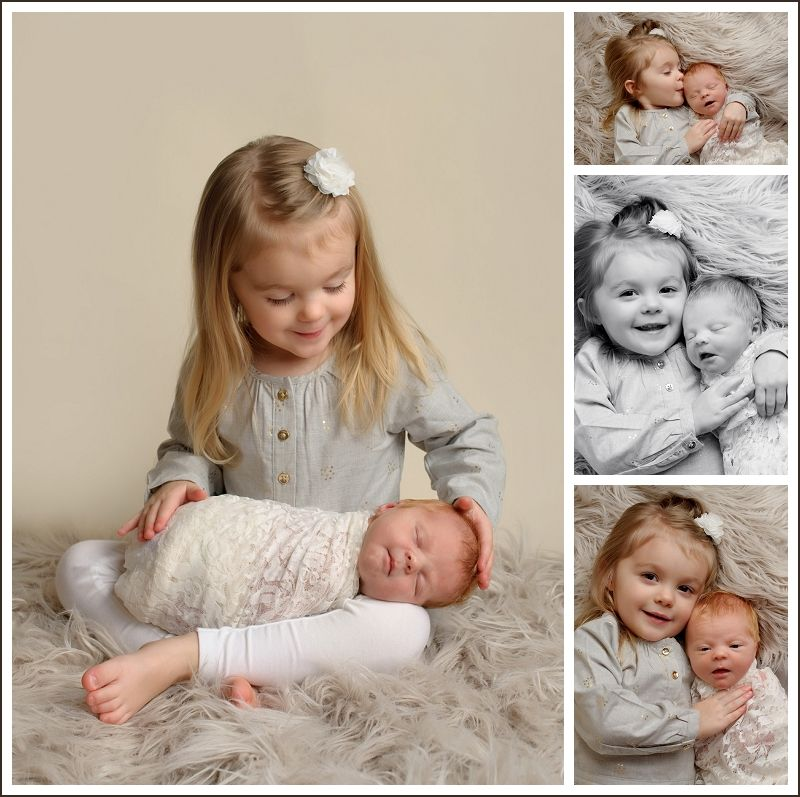 Toddler Kissing Newborn Sisters Newborn Pictures With Siblings Newborn