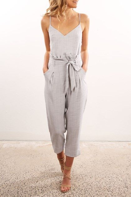 9cfd80fd66 Little Miss Jumpsuit Grey