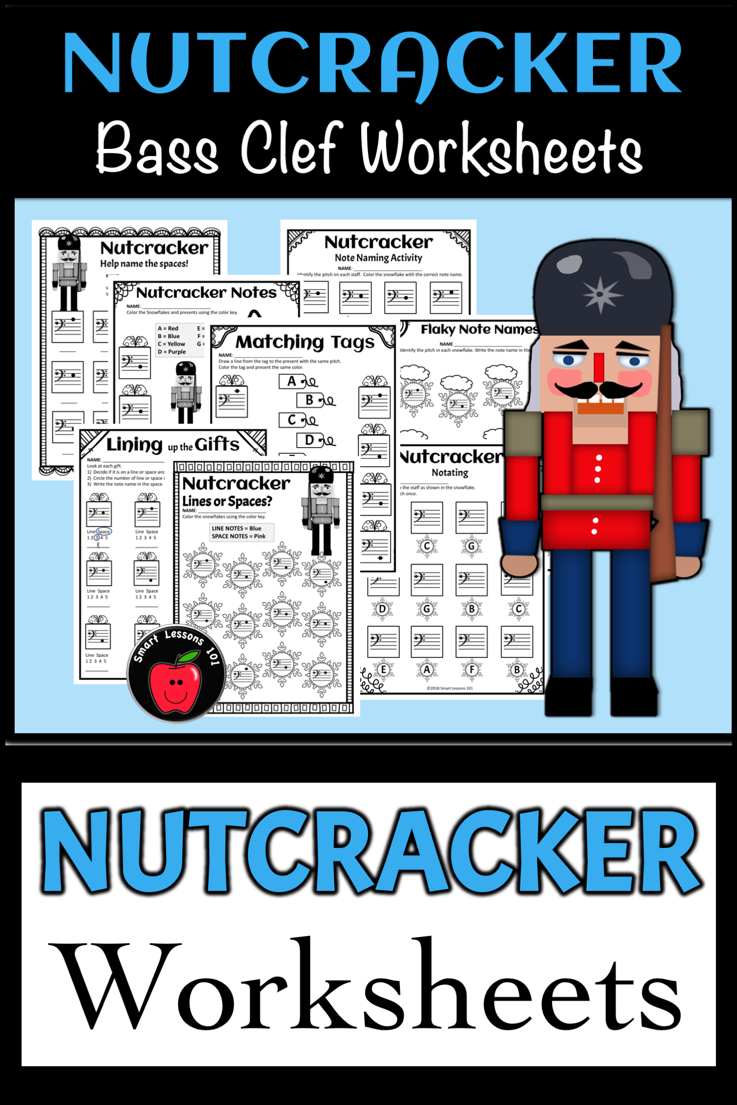 Nutcracker Worksheets Nutcracker Note Activities Treble