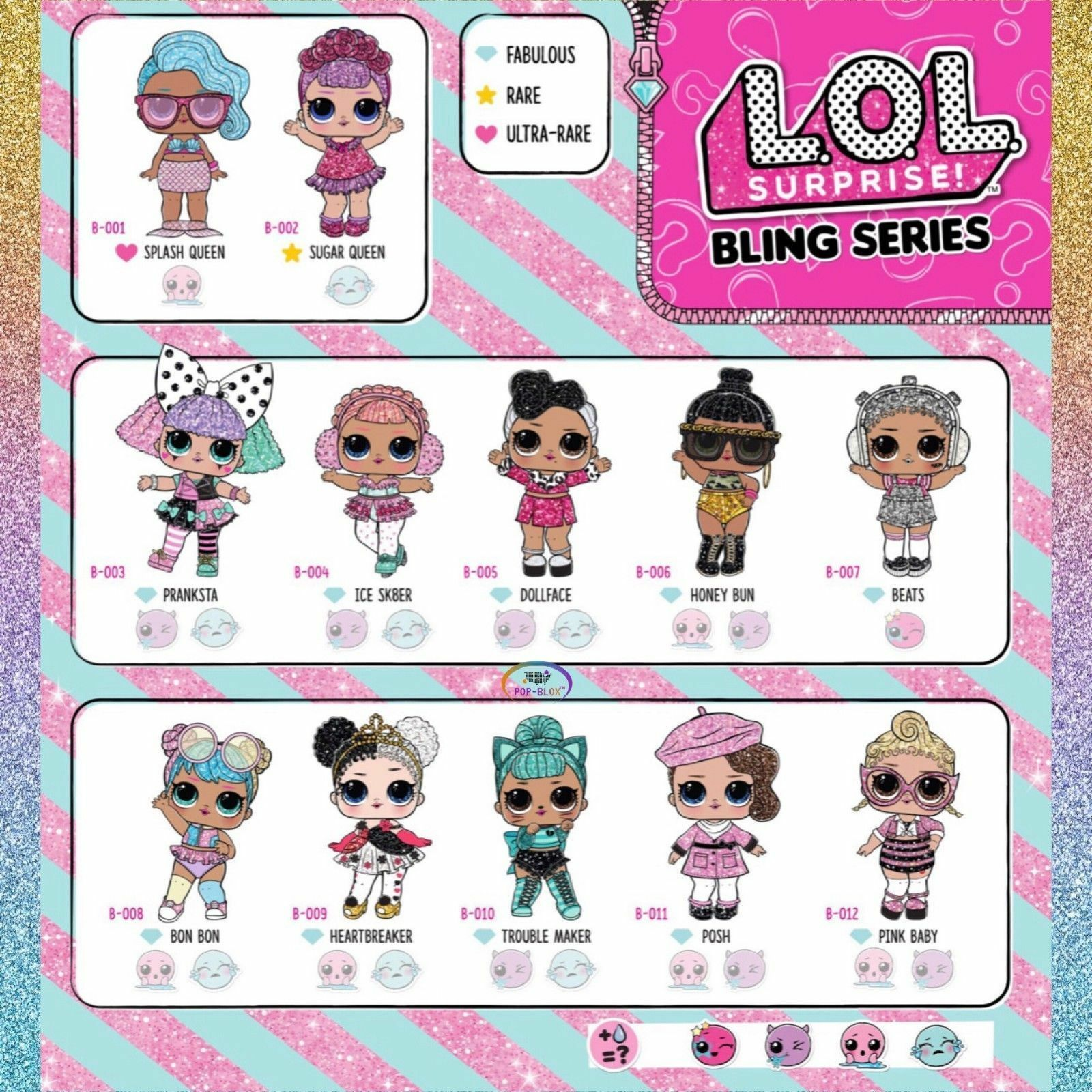 LOL SURPRISE DOLL BLING GLITTER SERIES PINK BABY