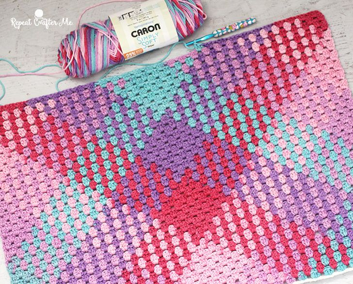 Crochet Color Pooling with Caron Simply Soft Stripes | Handarbeiten ...