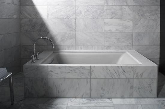 Kohler Purity Tub Undermount Bath With Marble Deck